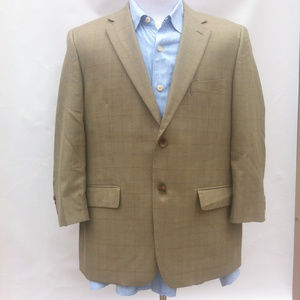 JOSEPH & FEISS GOLD Golden Windowpane 44S WOOL +